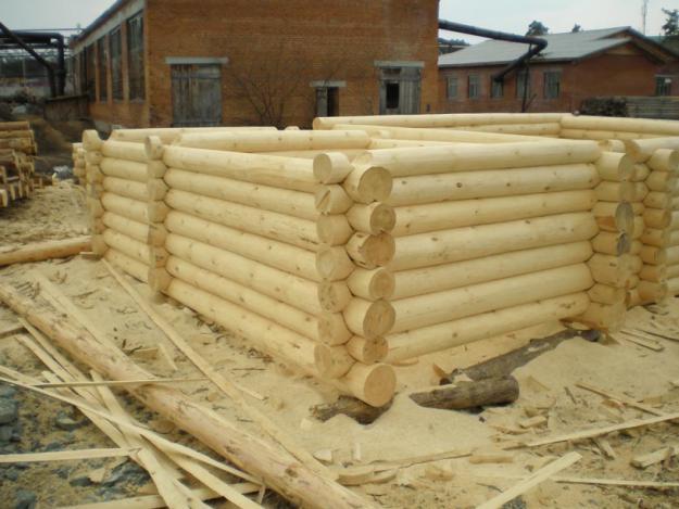 Строительство деревянного сруба для бани